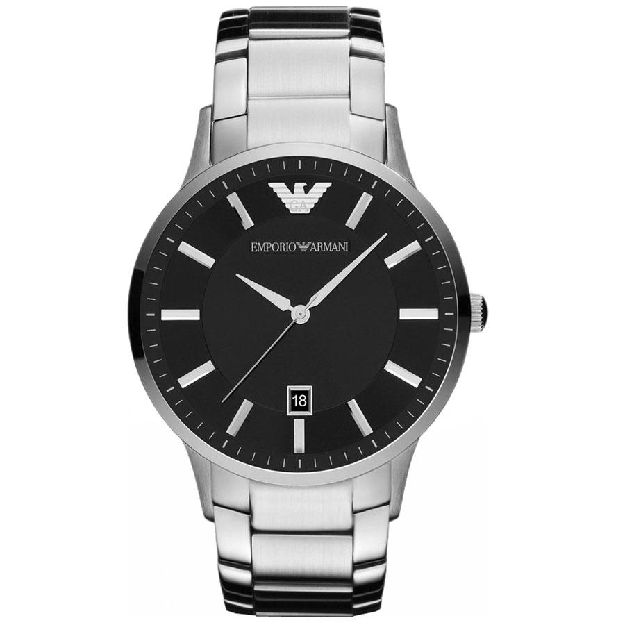 【送料無料】EMPORIO ARMANI エンポリオアルマーニ メンズ 腕時計 時計 AR11181 ブラック×シルバー エンポリオ・アルマーニ エンポリ アルマーニ【あす楽対応】【プレゼント】【ブランド】【ラッキーシール対応】
