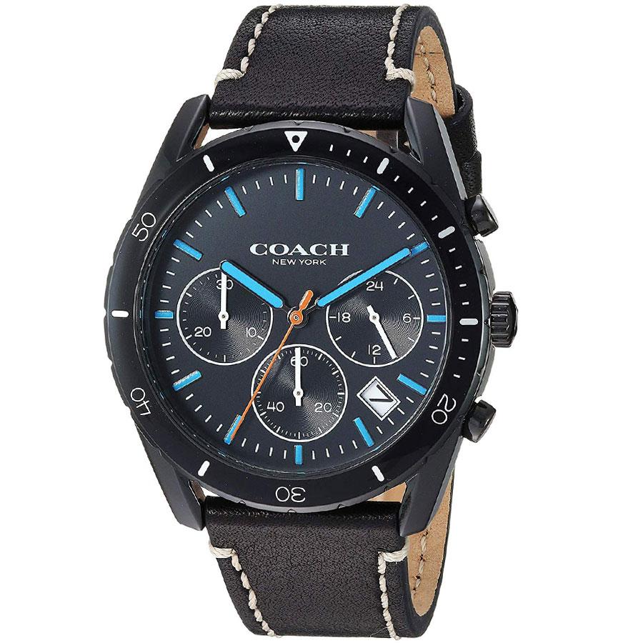 【送料無料】COACH コーチ メンズ 腕時計 時計 14602412 THOMPSON トンプソン クロノグラフ ブラック×ブルー×ブラック こーち【あす楽対応】【プレゼント】【ブランド】【ラッキーシール対応】【セール】