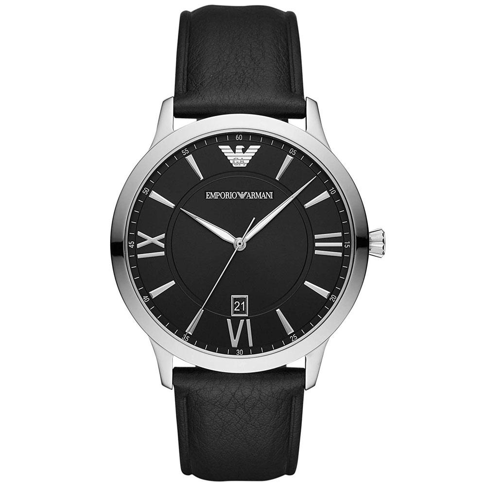 【送料無料】EMPORIO ARMANI エンポリオアルマーニ メンズ 腕時計 時計 AR11210 Giovanni ジョバンニ ブラック×シルバー×ブラック エンポリオ・アルマーニ エンポリ アルマーニ とけい【あす楽対応】【ブランド】【プレゼント】【ラッキーシール対応】
