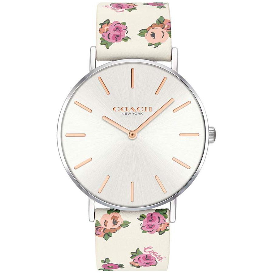 【送料無料】COACH コーチ レディース 腕時計 時計 14503297 Perry ペリー シルバー×ピンクゴールド×ホワイト 花柄 フラワー こーち とけい【あす楽対応】【プレゼント】【ブランド】【ラッキーシール対応】
