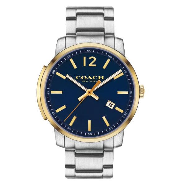 【超目玉】【送料無料】COACH コーチ メンズ 腕時計 時計 14602342 Bleecker Slim ブリーカースリム ブルー×ゴールド×シルバー こーち【あす楽対応】【ブランド】【プレゼント】【セール】