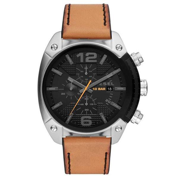 【送料無料】DIESEL ディーゼル 腕時計 時計 メンズ DZ4503 OVERFLOW オーバーフロー クロノグラフ ブラック×シルバー×ブラウン【あす楽対応】【プレゼント】【セール】