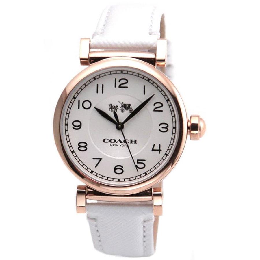 【送料無料】COACH コーチ レディース 腕時計 時計 14502408 Madison マディソン シルバー×ピンクゴールド×ホワイト こーち とけい 【あす楽対応】【プレゼント】【ブランド】【ラッキーシール対応】