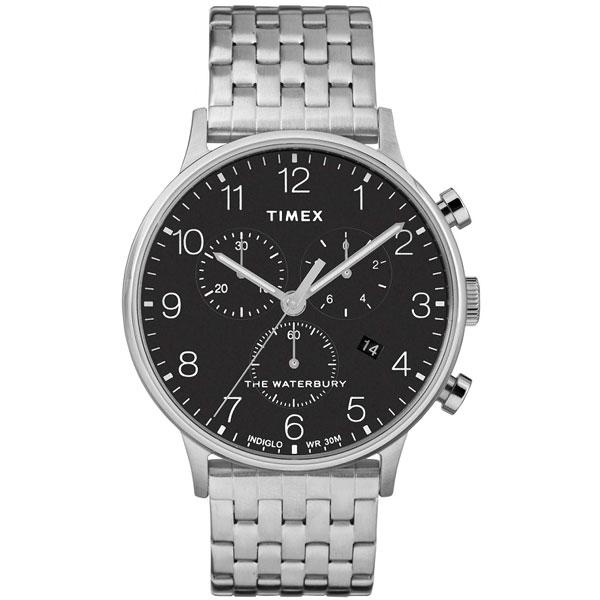【送料無料】TIMEX タイメックス 腕時計 時計 メンズ TW2R71900 WATERBURY CLASSIC ウォーターベリー クラシック クロノグラフ ブラック×シルバー とけい【あす楽対応】【ブランド】【プレゼント】【ラッキーシール対応】【セール】