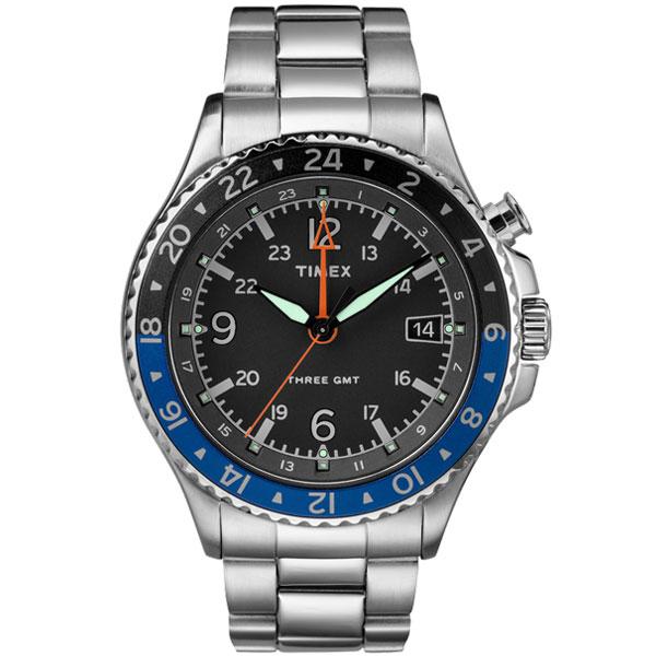 【送料無料】TIMEX タイメックス 腕時計 時計 メンズ TW2R43500 ALLIED THREE GMT アライド スリー ブラック×ブルー×シルバー とけい【あす楽対応】【ブランド】【プレゼント】【ラッキーシール対応】【セール】