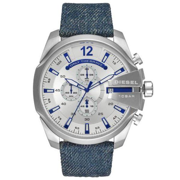 【送料無料】ディーゼル 時計 DIESEL 腕時計 DZ4511 メンズ MEGA CHIEF メガチーフ クロノグラフ デニム シルバー×ブルー とけい ウォッチ 【あす楽対応】【プレゼント】【ブランド】【ラッキーシール対応】