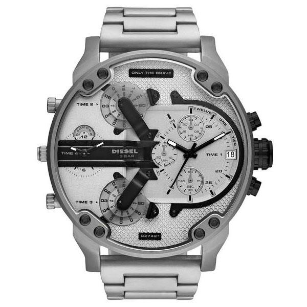 【送料無料】ディーゼル 時計 DIESEL 腕時計 DZ7421 メンズ MR DADDY 2.0 ミスターダディ クロノグラフ シルバー とけい ウォッチ 【あす楽対応】【プレゼント】【ブランド】【ラッキーシール対応】【セール】