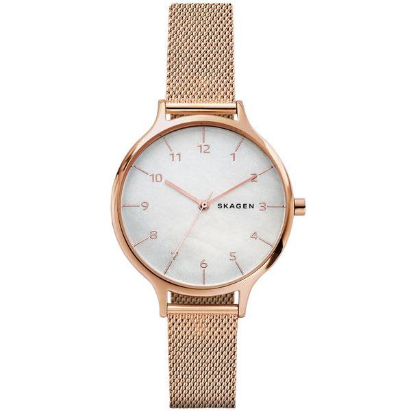 【送料無料】SKAGEN スカーゲン レディース 腕時計 SKW2633 ANITA アニータ 時計 女性用 メッシュベルト ホワイトシェル×ピンクゴールド【あす楽対応】【プレゼント】【ブランド】【セール】