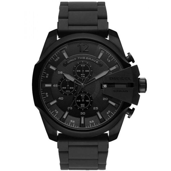 【送料無料】ディーゼル 時計 DIESEL 腕時計 DZ4486 メンズ MEGA CHIEF メガチーフ クロノグラフ オールブラック ラバーベルト とけい ウォッチ 【あす楽対応】【プレゼント】【ブランド】