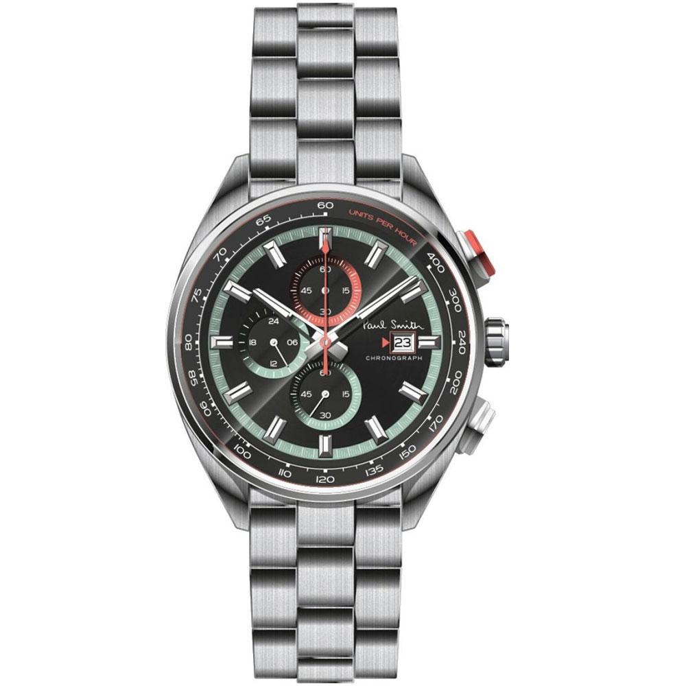 【送料無料】ポールスミス 時計 Paul Smith 腕時計 PS0110015 メンズ クロノグラフ ブラック×シルバー ウォッチ とけい【あす楽対応】【ブランド】【プレゼント】【セール】