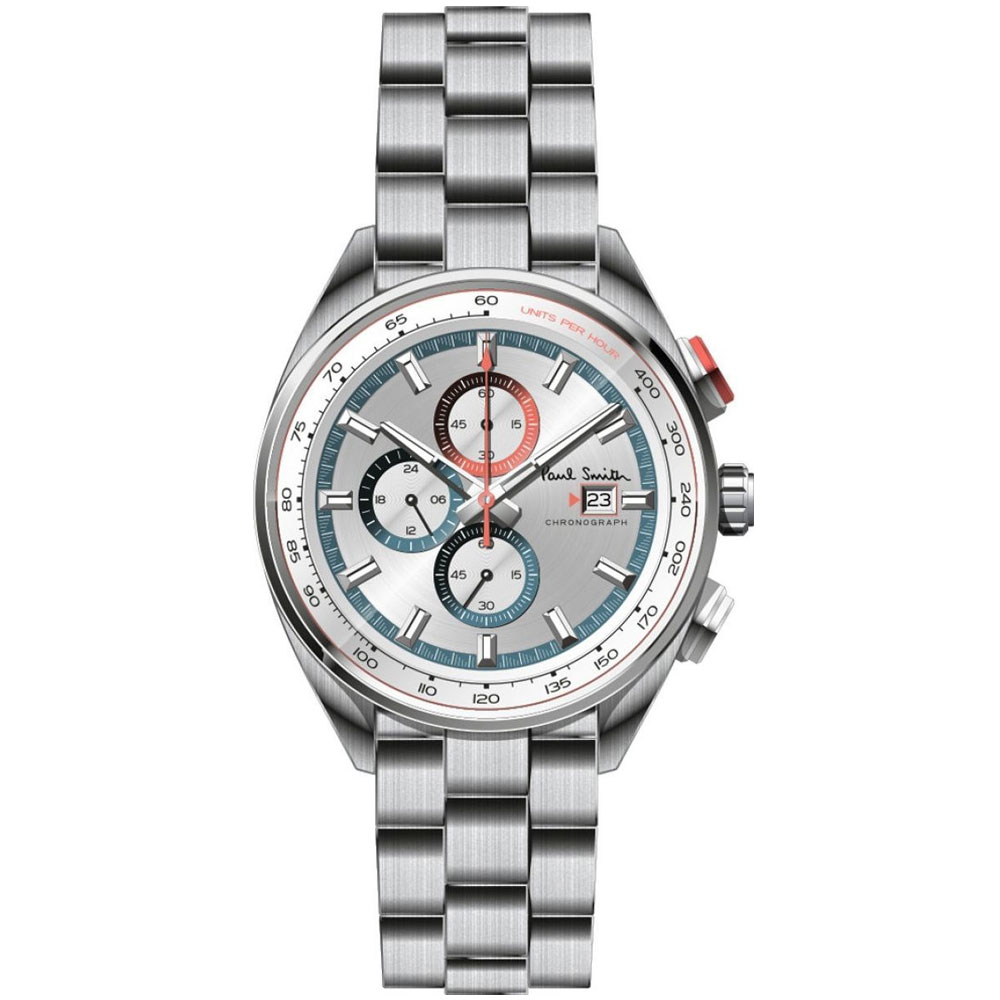 【送料無料】ポールスミス 時計 Paul Smith 腕時計 PS0110018 メンズ クロノグラフ シルバー×シルバー ウォッチ とけい【あす楽対応】【ブランド】【プレゼント】【ラッキーシール対応】【セール】