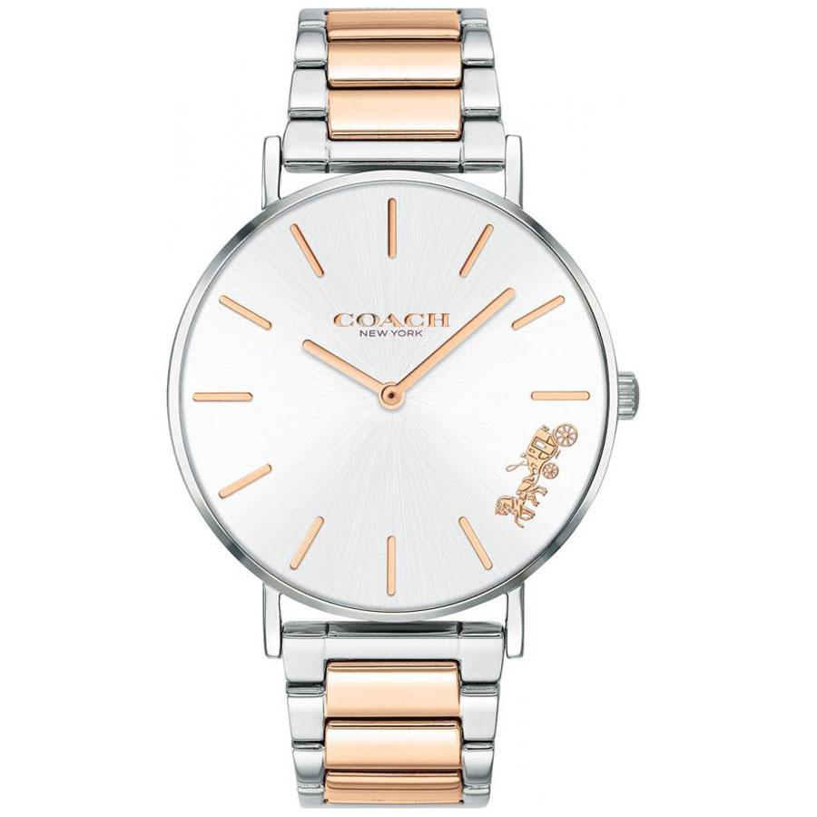 【送料無料】COACH コーチ レディース 腕時計 時計 14503346 Perry ペリー シルバー×ピンクゴールド こーち とけい【あす楽対応】【プレゼント】【ブランド】【ラッキーシール対応】