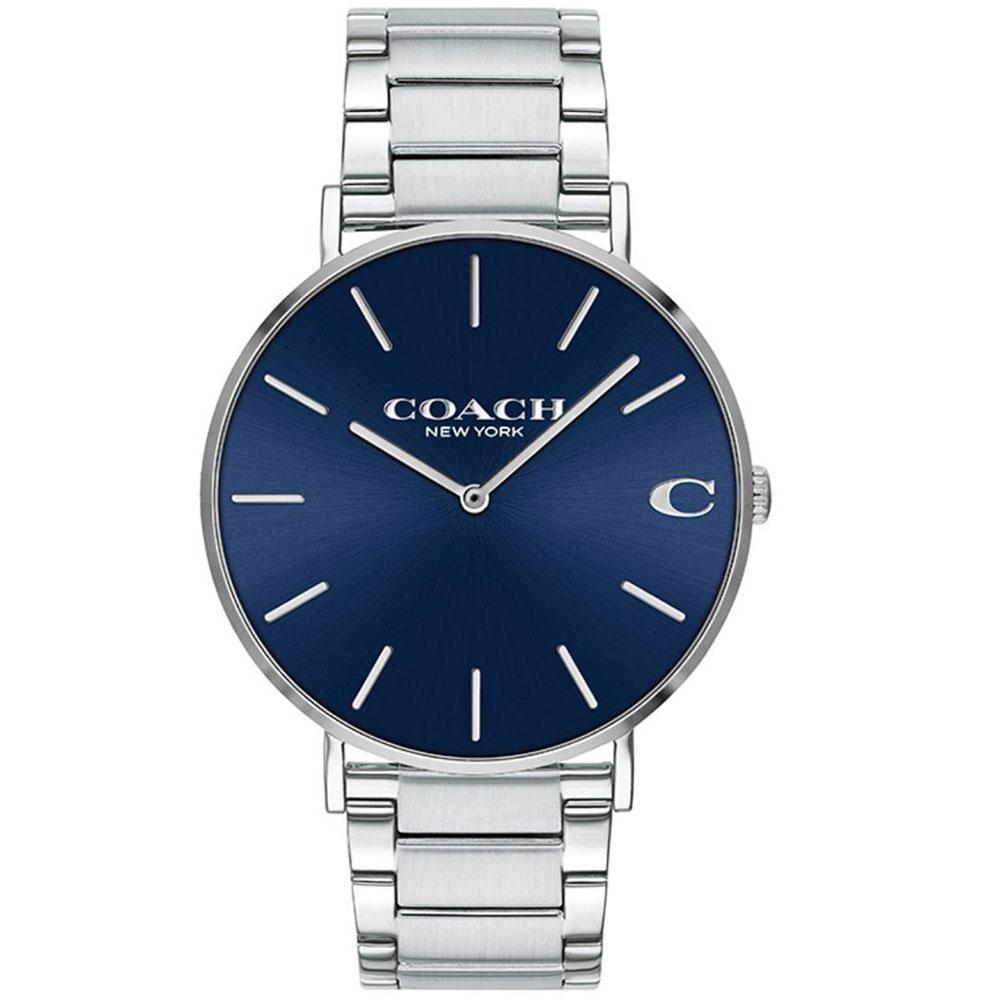 【送料無料】COACH コーチ メンズ 腕時計 時計 14602429 Charles チャールズ ブルー×シルバー こーち【あす楽対応】【プレゼント】【ブランド】【セール】