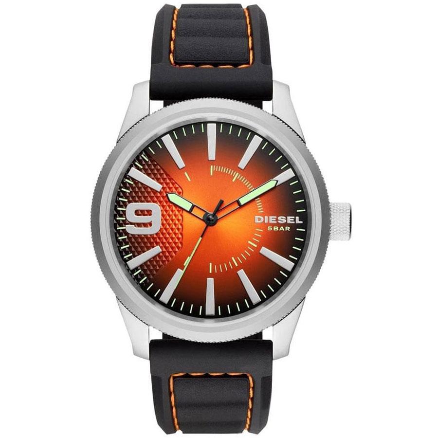 【送料無料】ディーゼル 時計 DIESEL 腕時計 DZ1858 メンズ RASP ラスプ オレンジグラデーション×ブラック ウォッチ とけい【あす楽対応】【プレゼント】【ブランド】【セール】