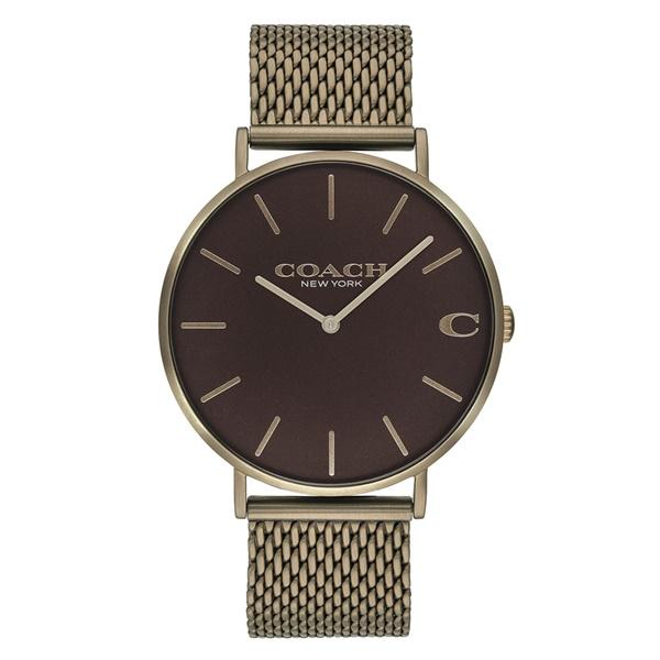 【送料無料】COACH コーチ メンズ 腕時計 時計 14602147 Charles チャールズ ダークブラウン×ブラウンブロンズ メッシュベルト こーち【あす楽対応】【ブランド】【プレゼント】【セール】