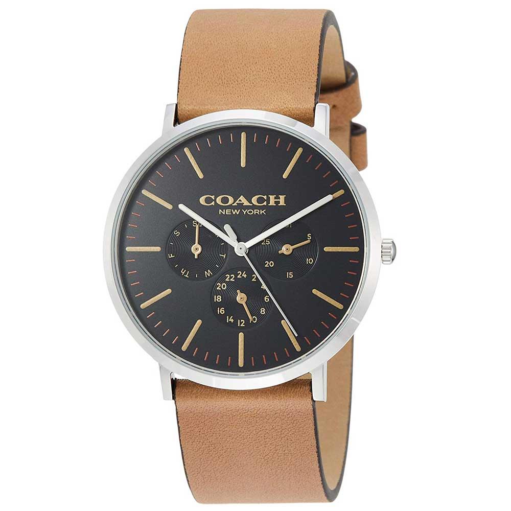 【送料無料】COACH コーチ メンズ 腕時計 時計 14602391 VARICK ヴァリック ブラック×ライトブラウン こーち とけい【あす楽対応】【ブランド】【プレゼント】【セール】