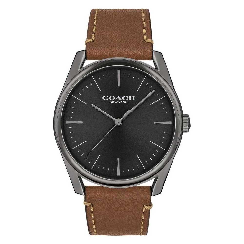 【送料無料】COACH コーチ メンズ 腕時計 時計 14602396 Preston プレストン ブラック×ブラウン こーち とけい【あす楽対応】【ブランド】【プレゼント】【セール】