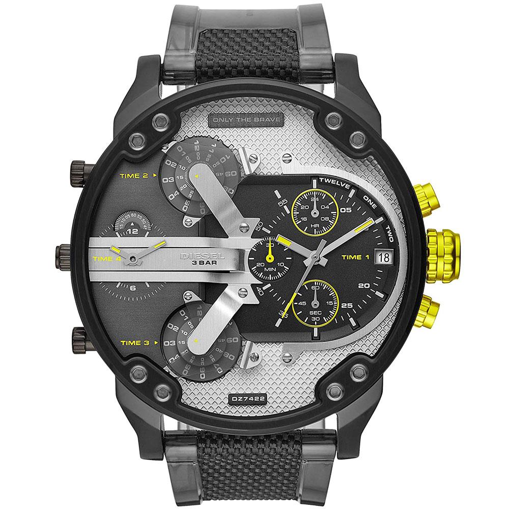 【送料無料】ディーゼル 時計 DIESEL 腕時計 DZ7422 メンズ Mr Daddy 2.0 ミスターダディー シルバー×グレー×ブラック クロノグラフ ウォッチ とけい【あす楽対応】【プレゼント】【ブランド】【セール】