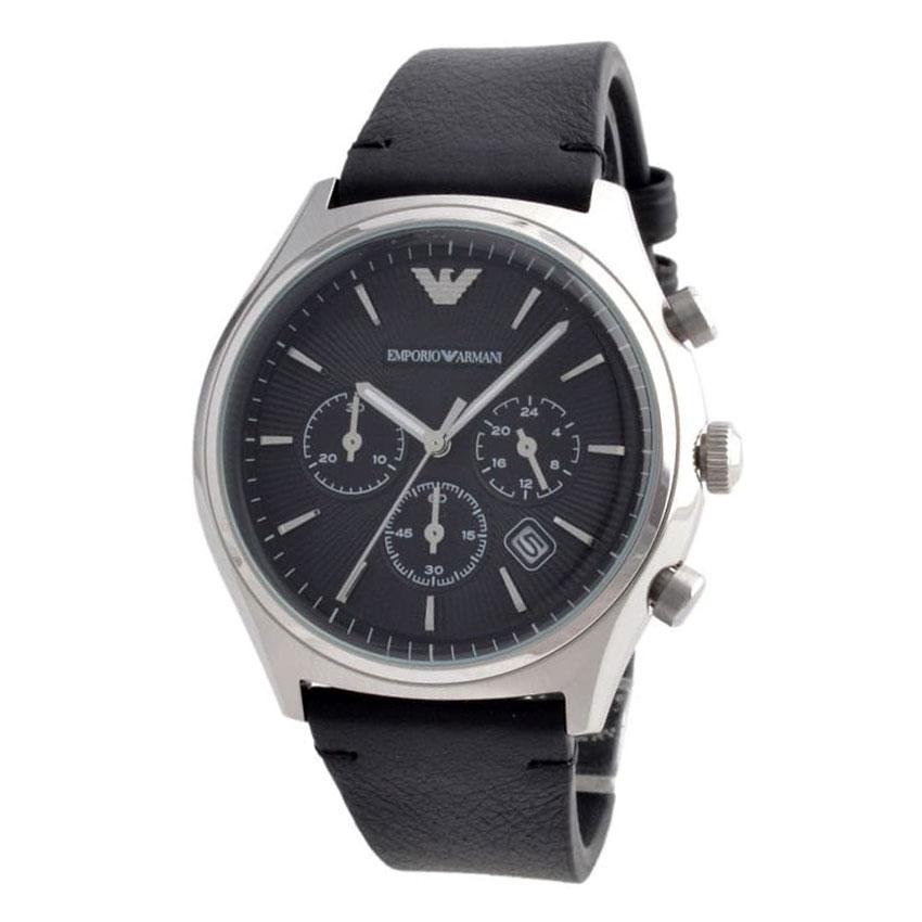 【送料無料】EMPORIO ARMANI エンポリオアルマーニ メンズ 腕時計 時計 AR1975 ブラック クロノグラフ エンポリオ・アルマーニ エンポリ アルマーニ【あす楽対応】【プレゼント】【ブランド】