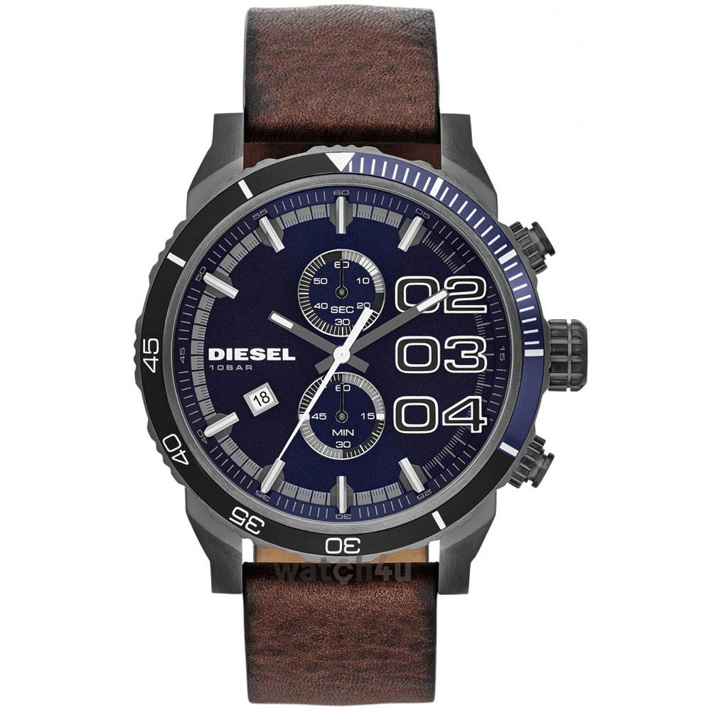 【送料無料】ディーゼル 時計 DIESEL 腕時計 DZ4312 メンズ FRANCHISE フランチャイズ ネイビー×ブラウン クロノグラフ ウォッチ とけい【あす楽対応】【プレゼント】【ブランド】【セール】