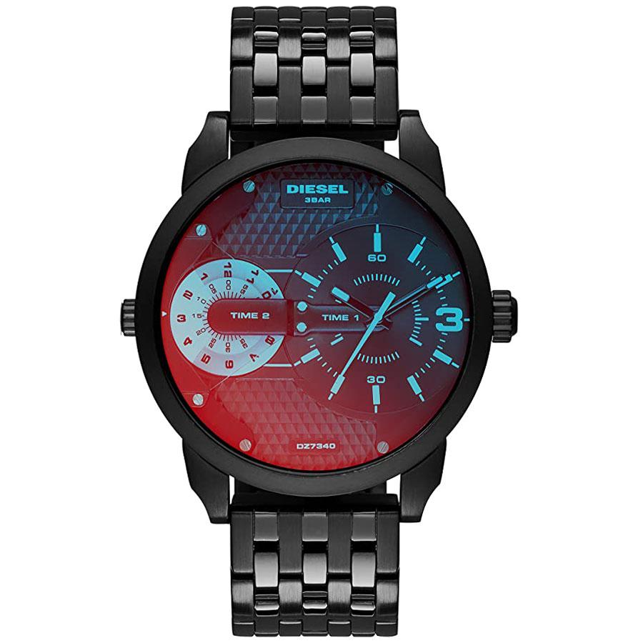 【送料無料】ディーゼル 時計 DIESEL 腕時計 DZ7340 メンズ MINI DADDY ミニダディ 偏光ガラス×ブラック ミラー ウォッチ とけい【あす楽対応】【プレゼント】【ブランド】【セール】