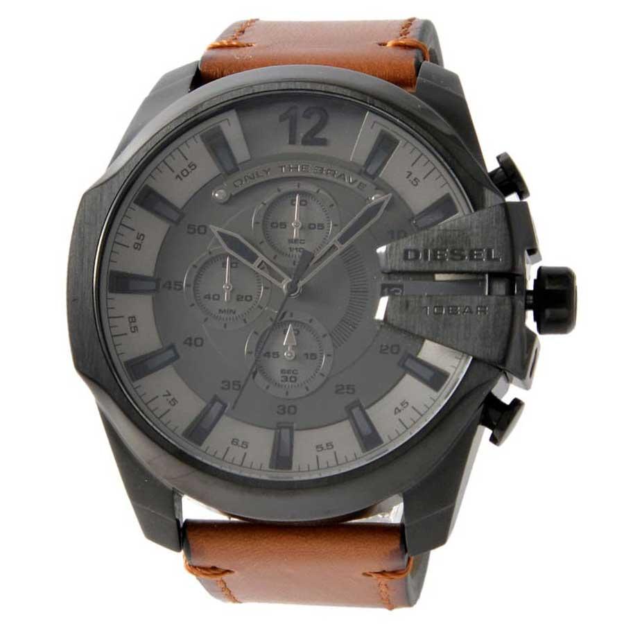 メガチーフ 時計 【送料無料】ディーゼル とけい MEGA クロノグラフ 腕時計 ウォッチ【あす楽対応】【ブランド】【プレゼント】【セール】 メンズ DZ4463 男性用 CHIEF DIESEL ガンメタル×ブラウン