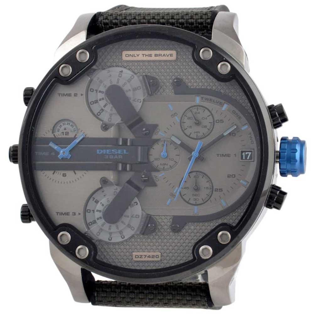 【送料無料】ディーゼル 時計 DIESEL 腕時計 DZ7420 メンズ Mr Daddy ミスターダディー ガンメタル×ブルー×ダークオリーブグリーン クロノグラフ ウォッチ とけい【あす楽対応】【プレゼント】【ブランド】【セール】