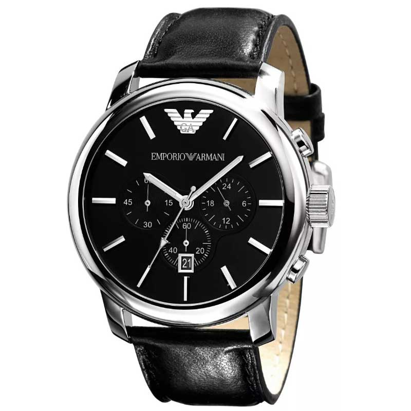 【送料無料】EMPORIO ARMANI エンポリオアルマーニ メンズ 腕時計 時計 AR0431 ブラック クロノグラフ エンポリオ・アルマーニ エンポリ アルマーニ【あす楽対応】【プレゼント】【ブランド】