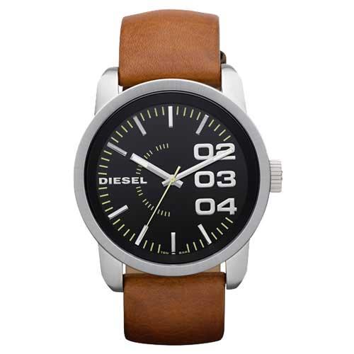 時計 DIESEL 【あす楽対応】【ブランド】【プレゼント】【セール】 メンズ FRANCHISE ウォッチ 男性用 【送料無料】ディーゼル 腕時計 ブラック×シルバー×ブラウン とけい フランチャイズ DZ1513