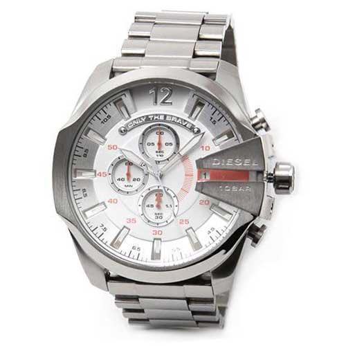 【送料無料】ディーゼル 時計 DIESEL 腕時計 DZ4328 メンズ MEGA CHIEF メガチーフ クロノグラフ シルバー とけい ウォッチ【あす楽対応】【ブランド】【プレゼント】【セール】