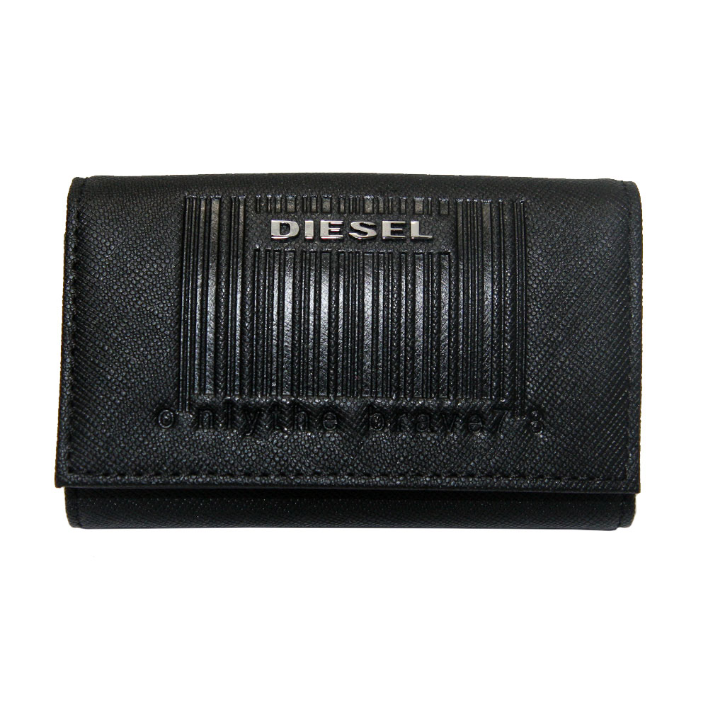 DIESEL 全店販売中 ディーゼル キーケース キーホルダー メンズ レディース 本革 革 現品 レザー X07306 プレゼント II あす楽対応 セール T8013 ブラック P0517 送料無料 KEYCASE ブランド