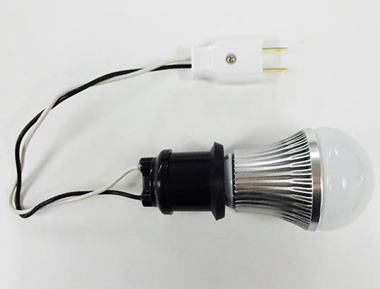 【防虫LED】電球型LED黄ライト(ソケット付き) PGL-05WL