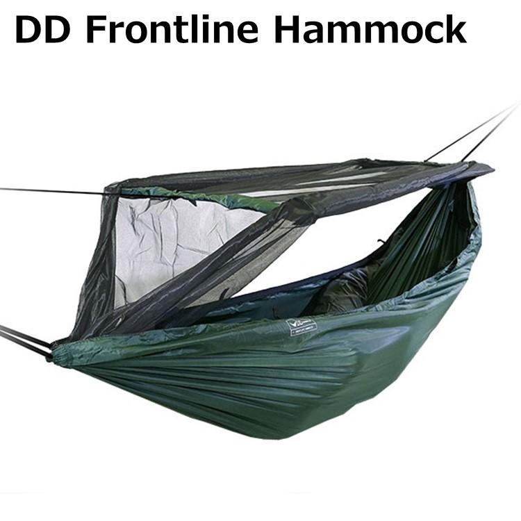 ハンモック DDハンモック DD Frontline Hammock フロントラインハンモック 蚊帳付き アウトドア キャンプ カラー オリーブグリーン コヨーテブラウン ジェットブラック サンセットオレンジ アウトドア