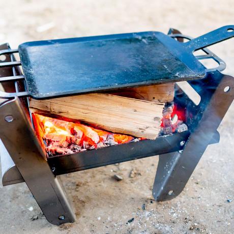 焚き火台 YOKA クッキング ファイヤーピット ソロ COOKING FIRE PIT SOLO ソロキャンプ 焚き火台+グリルセット