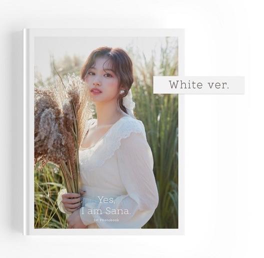 トゥワイス サナ 写真集 ホワイトバージョン SANA from TWICE - 爆売り Yes Ver. White PHOTOBOOK 韓国盤 Sana: I 1ST am 商店