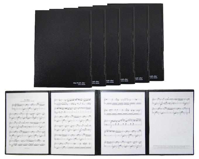 4面 楽譜ファイル 楽譜台紙 書き込みOK 照明が反射しません