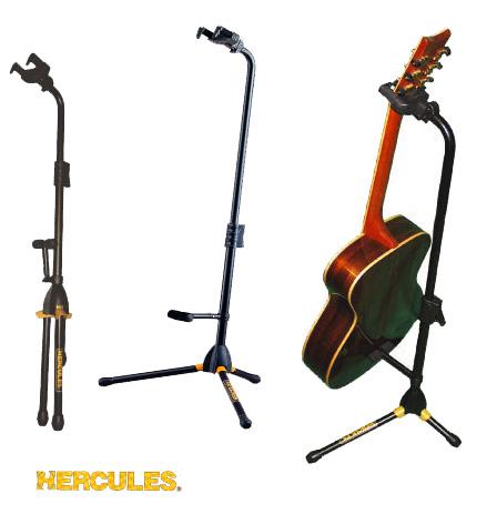 箱ボロ アウトレット Hercules GS432B 3本立て ギタースタンド 変形ギター も おすすめ 楽器 スタンド 折りたたみ式 コンパクト  おしゃれな インテリアにも