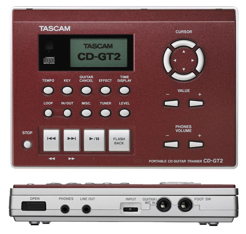 TASCAM CD-GT2 (ポータブルCDギタートレーナー) WineRed