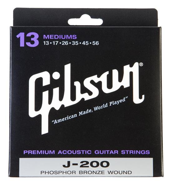 Gibson (ギブソン) SAG-J200 フォークギター弦 ミディアム 10セット