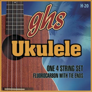 ghs H20 ハワイアン フロロカーボン ウクレレ弦 を 1set