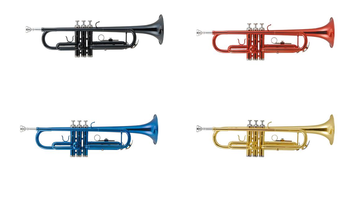 Kaerntner Trumpet KTR30 入門セット付き (譜面台、教則DVD、教則本、ミュート、ラッカーポリッシュ) ケルントナー トランペット Black
