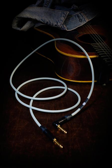 KAMINARI アコースティックギター専用ケーブル 5m カミナリ シールド S/L型