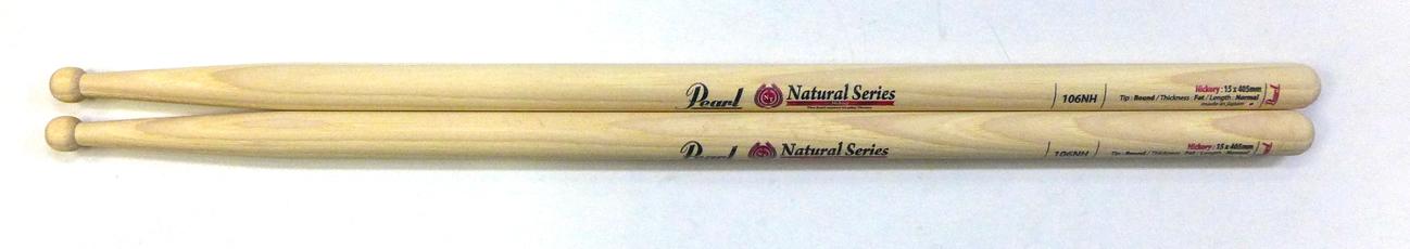 Pearl 106NH を 12set パール ドラムスティック 無塗装