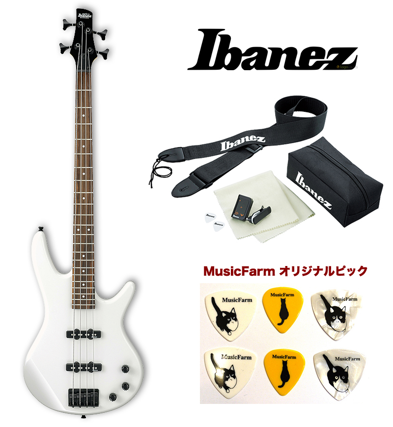 Ibanez アイバニーズ GSR-320 White) PW (Pearl (Pearl White) アイバニーズ エレキベース アクセサリーキット+オリジナルピックセット, あれ家これ屋:8ab25d66 --- anaphylaxisireland.ie