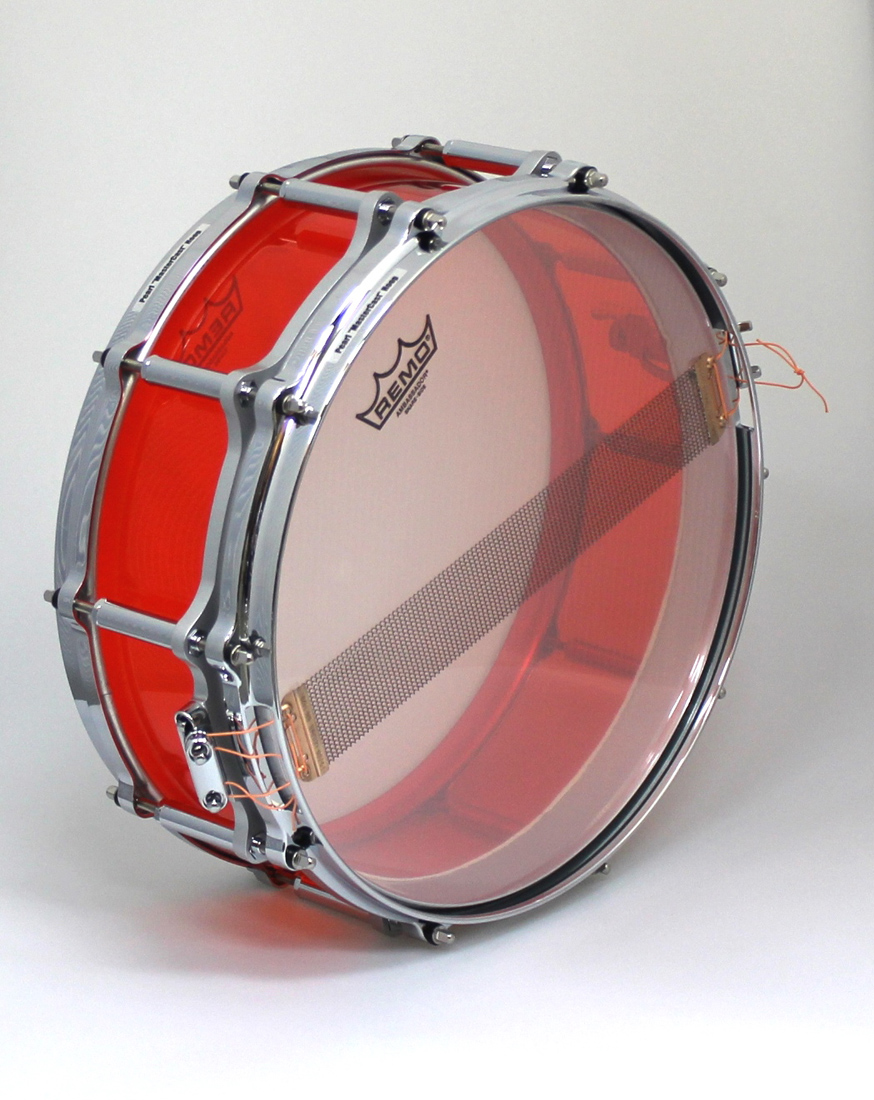 Pearl FCRB1450 F.F.S Crystal Beat Snare drum #731 RUBY RED パール アクリル スネアドラム スネアケース付