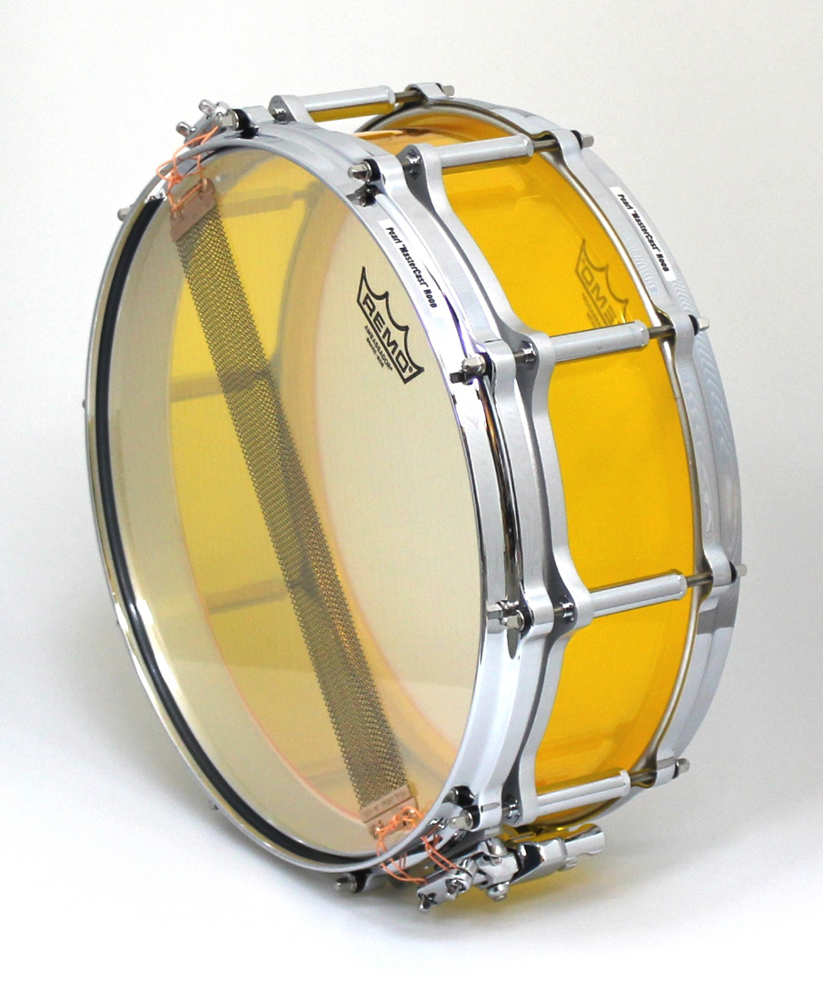 Pearl FCRB1450 F.F.S Crystal Beat Snare drum #732 TANGERINE GLASS パール アクリル スネアドラム スネアケース付
