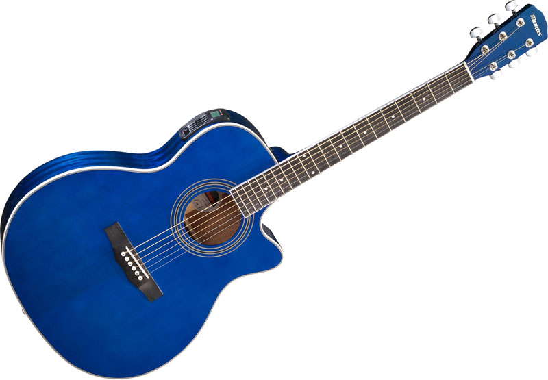 Morris R-401 SBU (シースルーブルー) 小物サービス付き モーリス エレアコ ギター