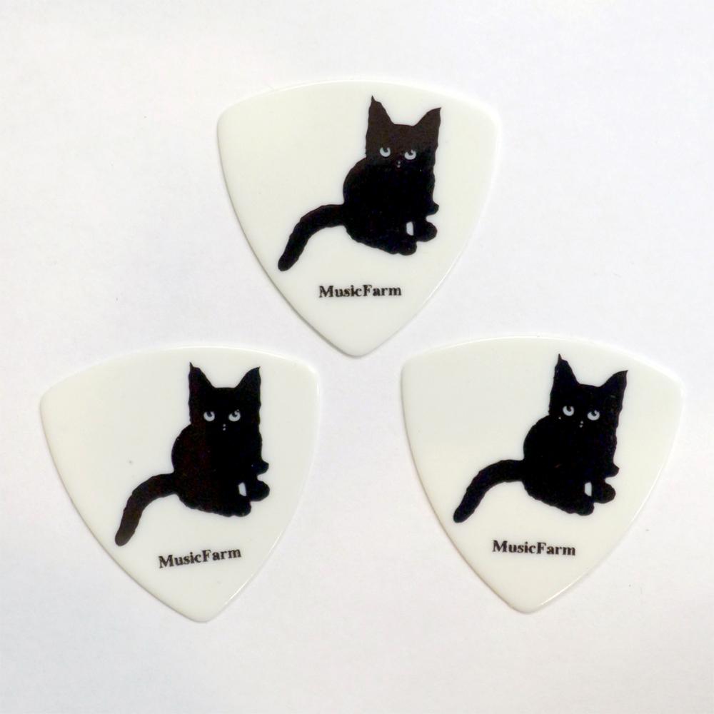 メール便 5☆好評 送料180円 数量限定アウトレット最安価格 対応可能 MusicFarm ギターピック オリジナル猫ピック ナツメ1 WH MEDIUM TRY 6枚セット