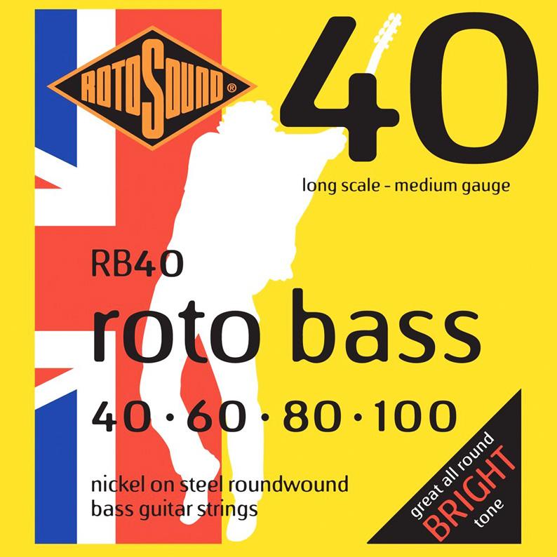 RotoSound (ロトサウンド) RB40 ベース弦 ロングスケール を 6セット