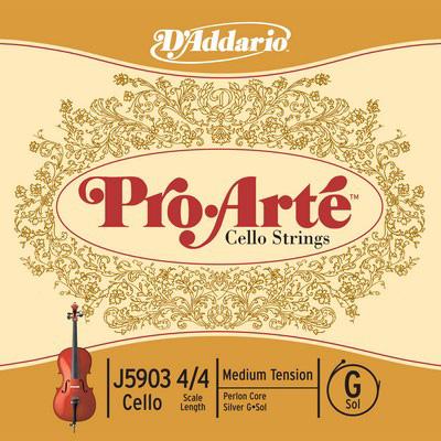 D'Addario Pro・Arte J5903 G-silver ダダリオ チェロ用弦 単線